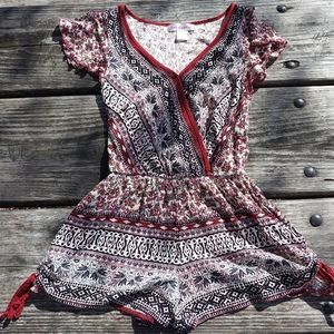 Band of gypsies Floral Shorts Romper size XS